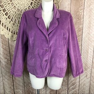CATO WOMAN Jacket 26/28 Lilac Purple Corduroy